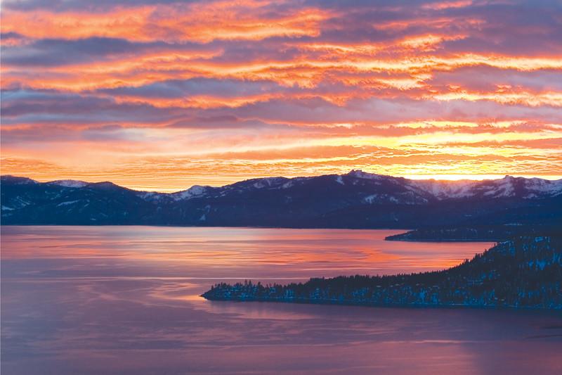 Winter Sunset at Tahoe