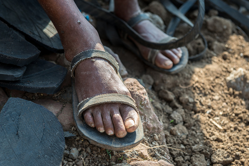 Sandals made from old tires