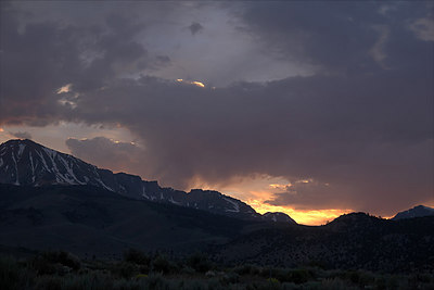 Sunset after I got down to the eastern foothills of the Sierra Nevada Mountain range