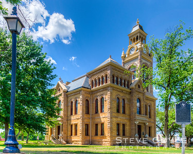 Llano County Courthouse in the spring.