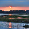 Sunset on Barrier Island .  Chincoteague Island, Virginia