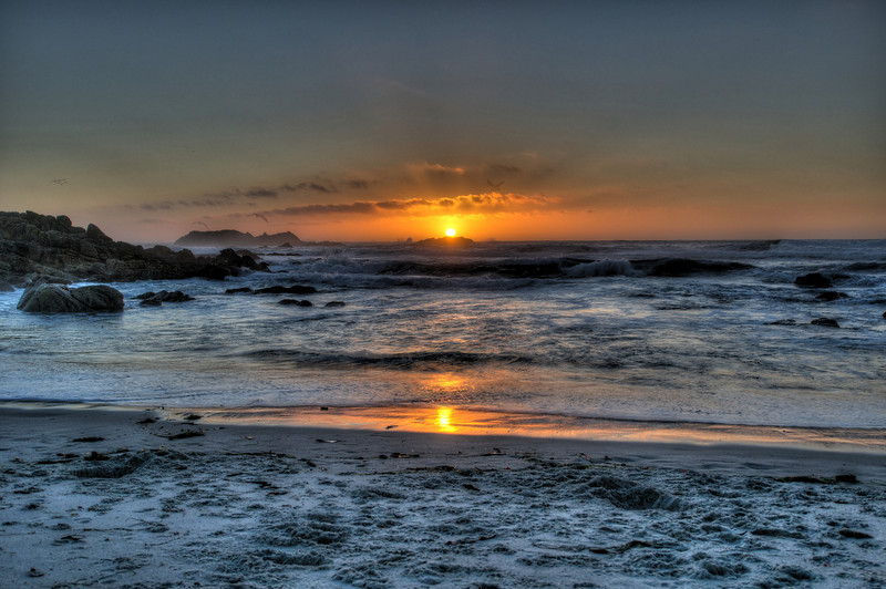 Sunset along 17 Mile Drive