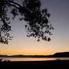Fall sunset at Ski Beach on the north shore of Lake Tahoe.