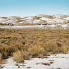 Nevada Landscape with Light Snow