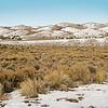 Nevada Landscape with Light Snow