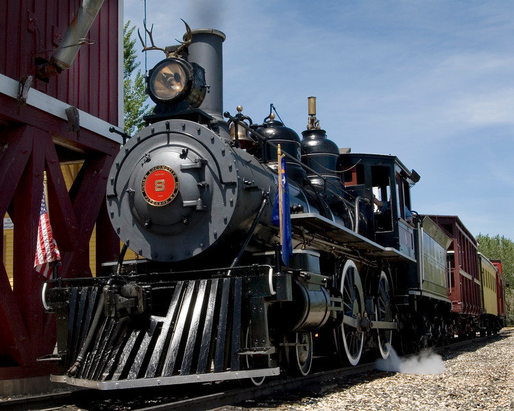 Steam engine number 8 at the Nevada Railroad Museum.