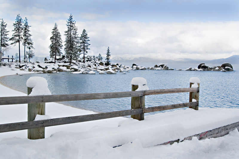 Sand Harbor in Winter