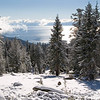 Lake Tahoe viewed from the Tahoe Rim Trail after an early snowfall.