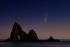 Comet Neowise Martin's Beach  ©2020  Janelle Orth