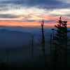 Sunset at Clingman's Dome, Smoky Mountains, Tennessee