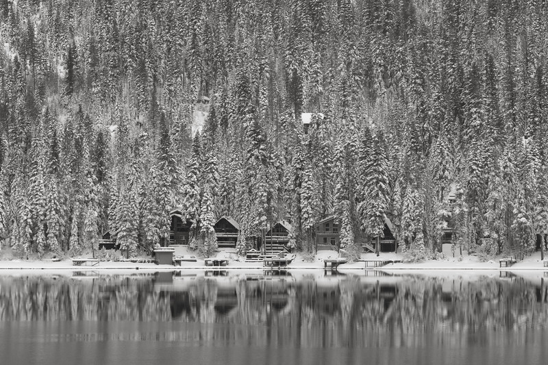 Early Snow on Donner Lake