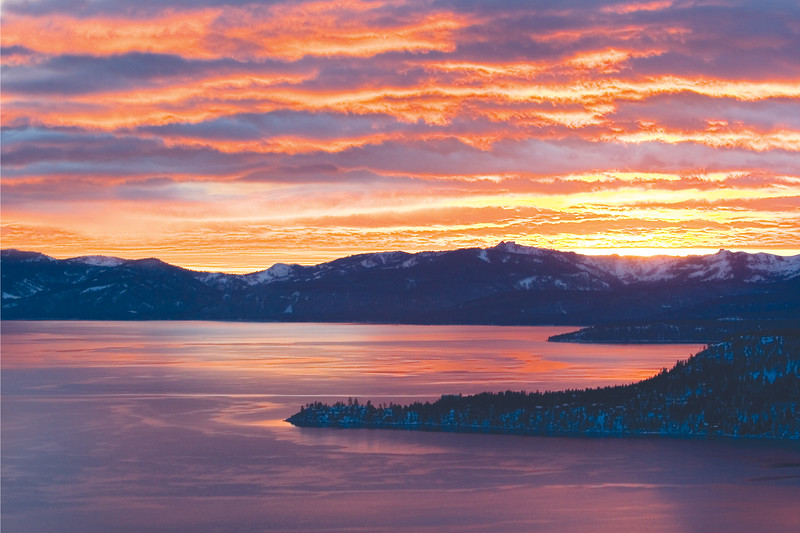 Winter Sunset at Tahoe