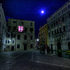 Same moon , different Campo (square) .  Didn't even notice the purple curtain at the time . Silly me , I was just too happily overwhelmed by Venice !