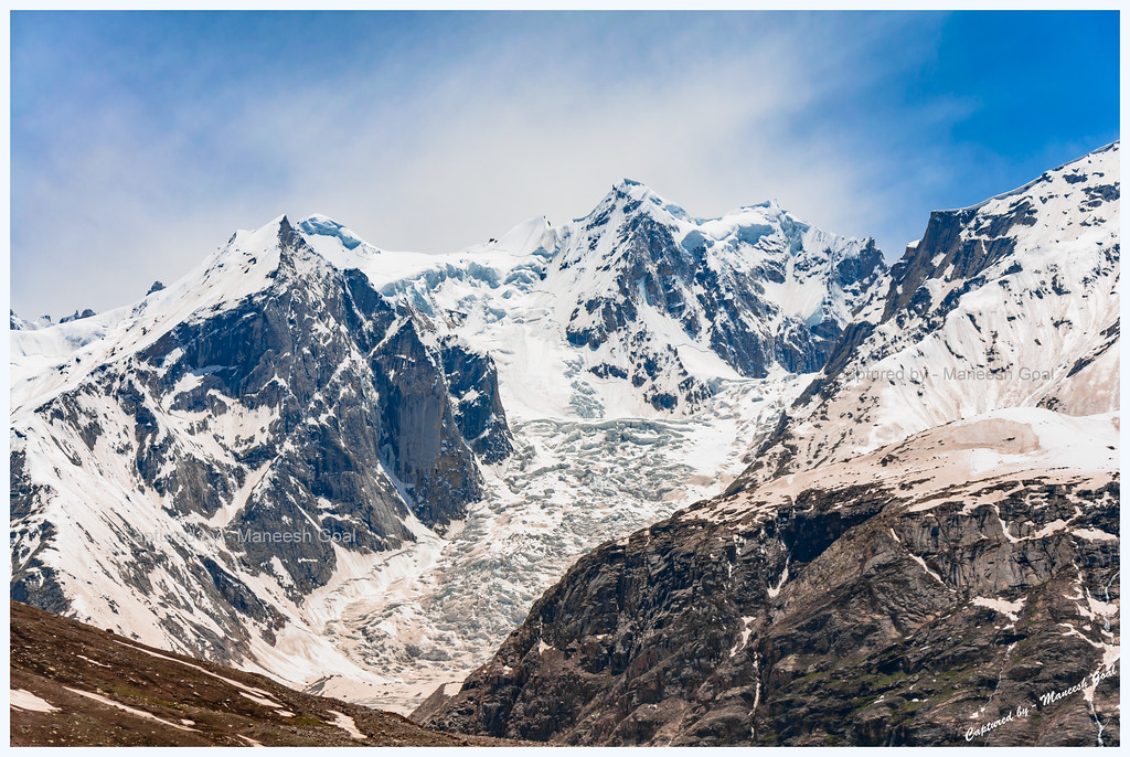Bara Shigri Glacier near Batal (enroute to Spiti Valley via Rohtang Pass), India