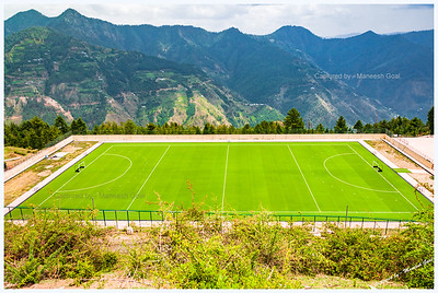 Shilaroo high altitude hockey turf, near Shimla.