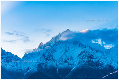 Kinner Kailash at sunrise, Kalpa
