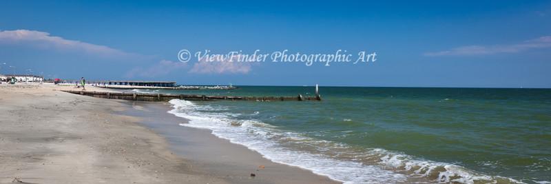 Calm day on the Chesapeake Bay at Buckroe Beach