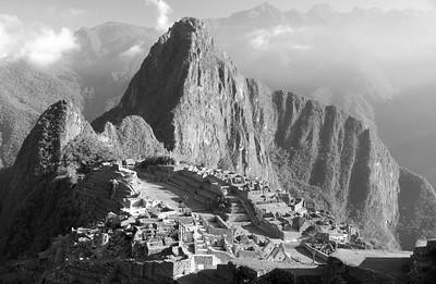 Classic view Machu Picchu