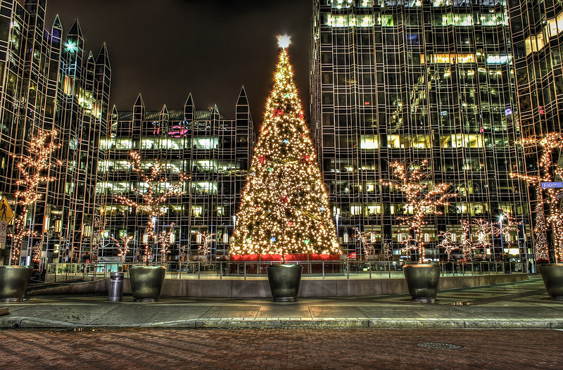 PPG Ice Rink & Tree HDR