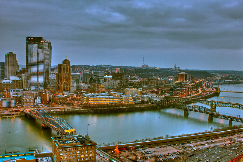 View of Downtown Pittsburgh and Oakland from atop Mt. Washington