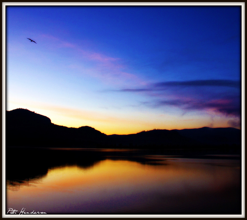 Osoyoos, BC as sunrise.