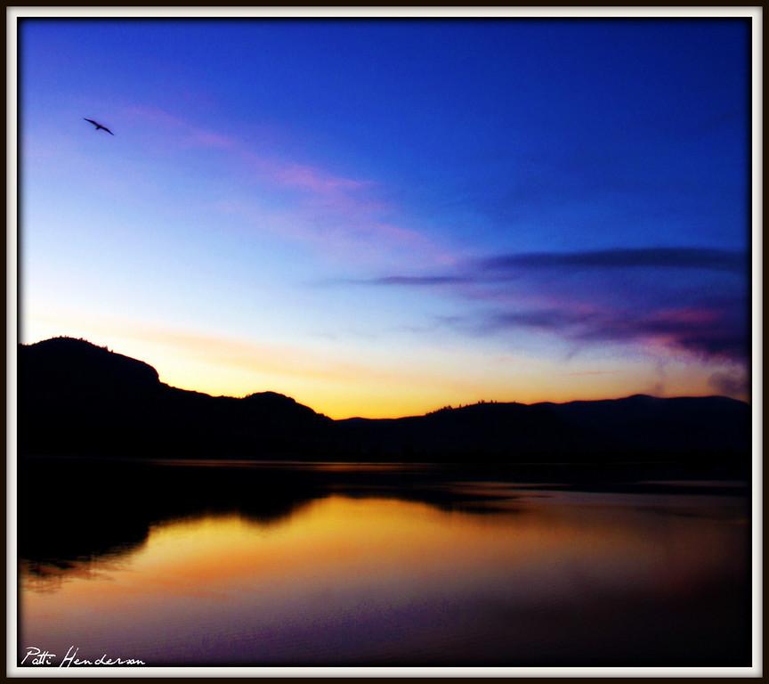 Osoyoos, BC as sunrise.