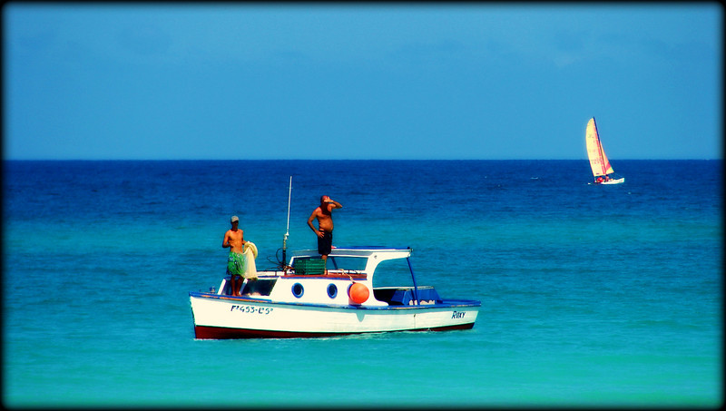 Old Man, Young Man and the Sea...and a Hobie Cat...Cuba