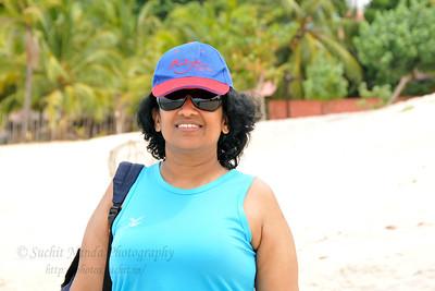 Anu (Arundhathi) at the beach in Langkawi, Malaysia