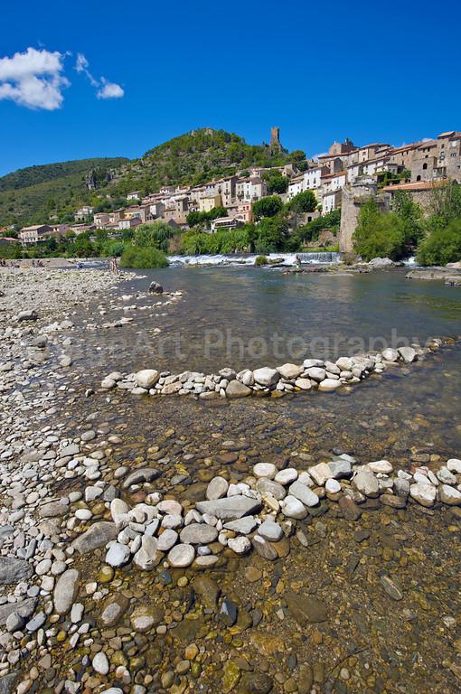 Roquebrun in the Herault region of France