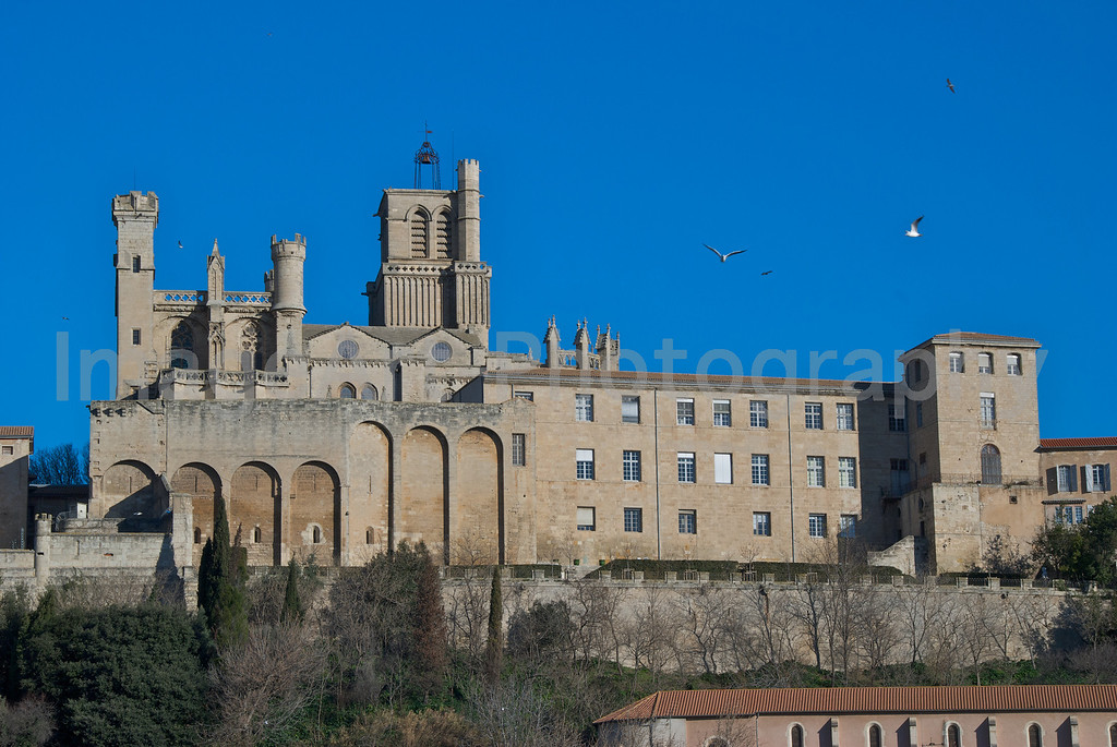 The medieval cathedral of Beziers, South of France