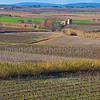 Rural setting with a distant farmhouse in France
