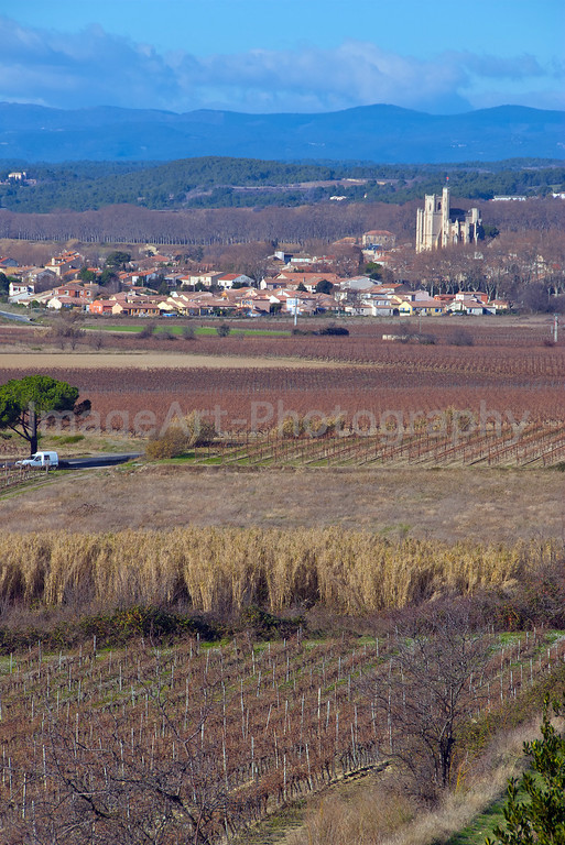 Capestang Cathedral and town in Languedoc