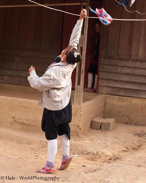 Lanten Woman Jumping For A High Pass