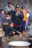 Lanten Woman Preparing Breakfast, Ban Tin Thad, Laos