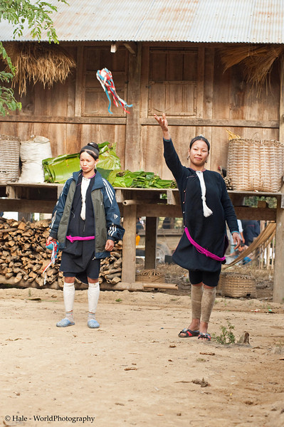 Lanten Women Playing A Game of Catch