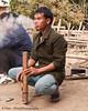 Lanten Man Enjoying A Smoke, Northwest Laos