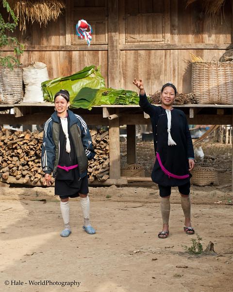 Lanten Women Relaxing, Ban Tin Thad, Laos