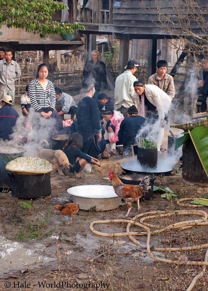 Lanten People Prepare Community Breakfast on New Years, Jan 31