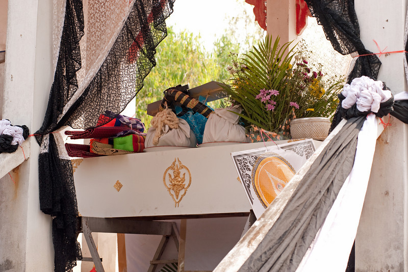 Offerings Piled On Top of the Coffin