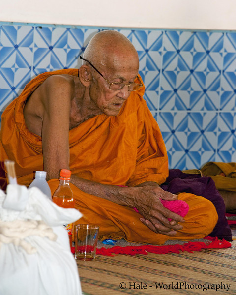 Monk During Merit Making Ritual