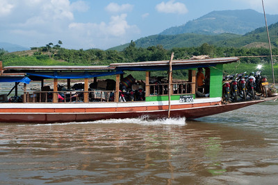 Houei Xai to Louang Prabang: Two days down the Mekong - Cargo boat.