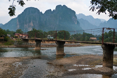 Vang Vieng:  view from hotel