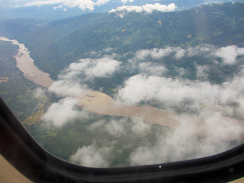 Flying in to Luang Prabang (LP), Laos from Bangkok and seeing the Mighty Mekong river.