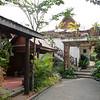courtyard of Villa Vang Vieng