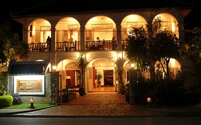 We stayed at the Villa Santi