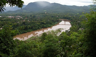View from Mt. Phousi, Nam Khan river.