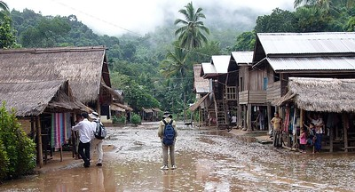 Village on the Mekong.