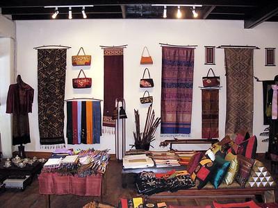 Weavings in Luang shop.