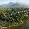 Luang Prabang from the air (Wiki photo).