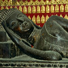 500-year-old Reclining Buddha at Wat Xieng Thong.